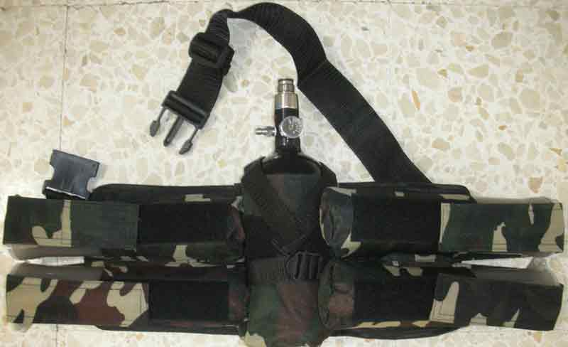 EXPLORATIO HARNESS REMOTE 4+1 HORIZONTAL CAMO